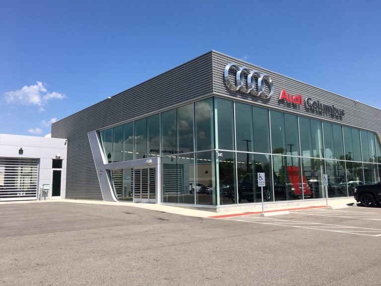 Audi Car Dealership construction photo